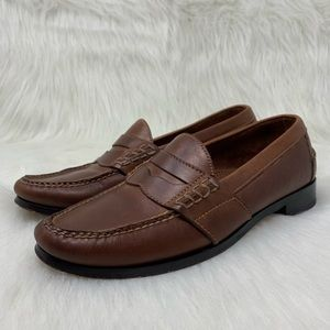 Cole Haan Men's Brown Leather Penny Loafer 10 D